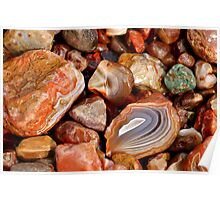 Lake Superior Agate Beach Poster