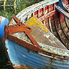Colourful boat on Holy Island by Kevin Allan