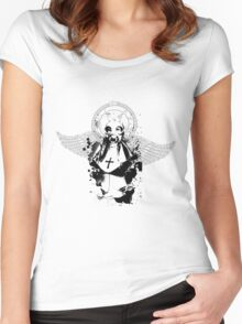 Nun in Gasmask Women's Fitted Scoop T-Shirt