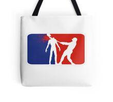 Zombie Down Baseball style Tote Bag