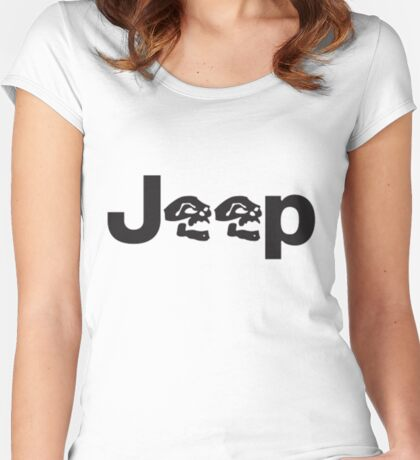 JEEP SKULLS Women's Fitted Scoop T-Shirt