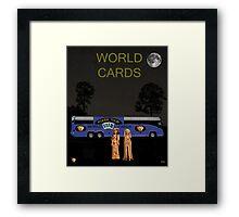 Poker World Cards Tour Framed Print
