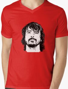 Dave Grohl Portrait - Hand Drawn - Foo Fighters Mens V-Neck T-Shirt