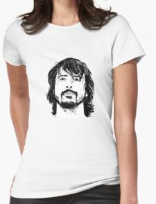 Dave Grohl Portrait - Hand Drawn - Foo Fighters Womens Fitted T-Shirt