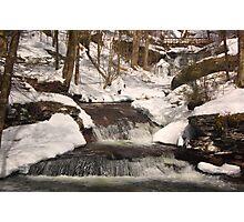 Winterized Waters Meet - Warm Photographic Print