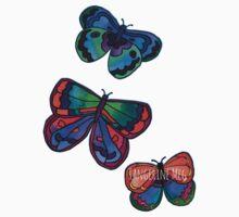 3 Bold Butterflies Kids Tee