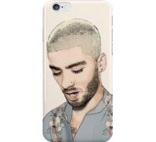 flowery Zayn Malik iPhone Case/Skin