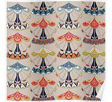 carousel damask Poster