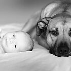Me and My Puppy - Getting to Know Each Other by kristideephotog