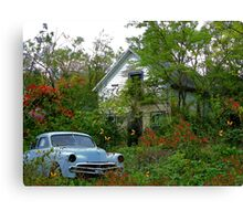 Autumn Gathering At The Old Homestead Canvas Print