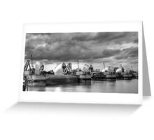 Storm Clouds Over Thames Barrier Greeting Card