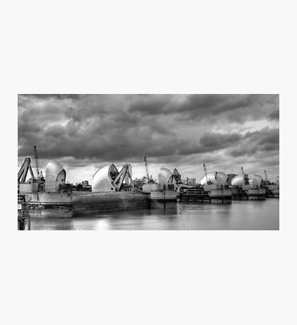 Storm Clouds Over Thames Barrier Photographic Print