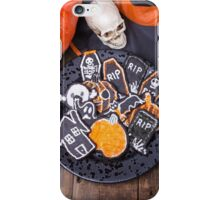 Plate of Halloween Sugar Cookies iPhone Case/Skin