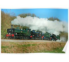 5 Steam Loco's on the South Devon Railway Poster