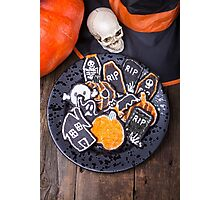 Plate of Halloween Sugar Cookies Photographic Print