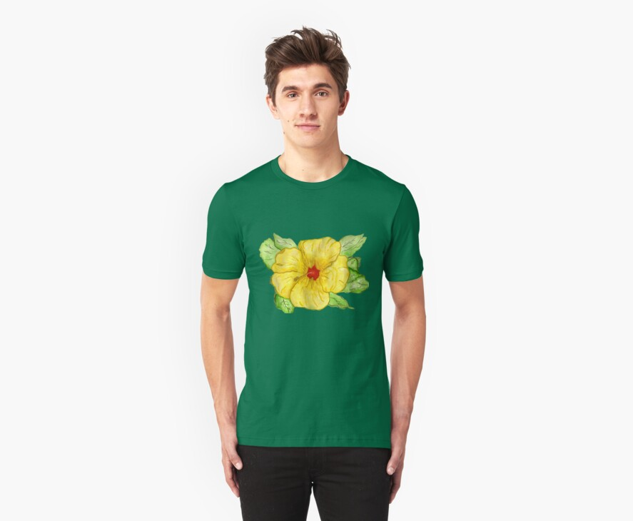 Kathy's Hawaiian State Flower Tee Shirt by Anne Gitto