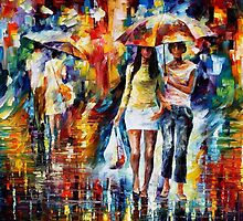 Shopping Day - original oil painting on canvas by Leonid Afremov by Leonid  Afremov