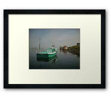 Nova Scotia Fishing Boat on the Coast Framed Print