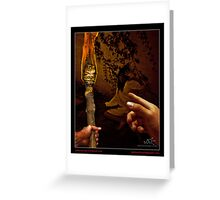 WITCH: THREE FINGERS POINTING Greeting Card