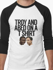 Troy And Abed On A T Shirt Men's Baseball ¾ T-Shirt