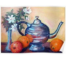 Still life with silverteapot Poster