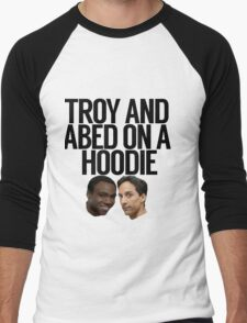 Troy And Abed On A Hoodie Men's Baseball ¾ T-Shirt