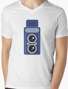 Blue Camer Mens V-Neck T-Shirt