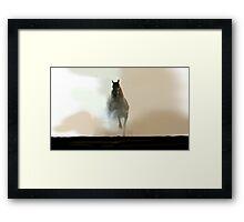 Misty Horse Framed Print