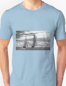 Racing On Open Waters B&W T-Shirt