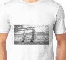 Racing On Open Waters B&W Unisex T-Shirt