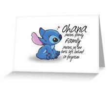 Ohana Greeting Card