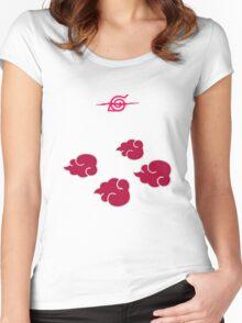 Akatsuki Clouds geek funny nerd Women's Fitted Scoop T-Shirt