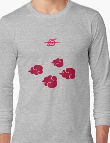 Akatsuki Clouds geek funny nerd Long Sleeve T-Shirt