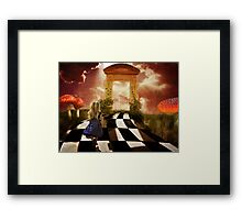 Alice in a Hurry Framed Print
