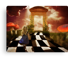 Alice in a Hurry Canvas Print