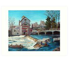Chisholm's Mill, Ontario Art Print
