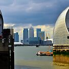 Canary Wharf &amp; O2 Arena From Thames Barrier by John Hare