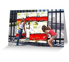 Abstract Expression Billboard Greeting Card