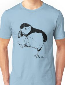 Puffin takes a walk Unisex T-Shirt