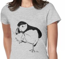 Puffin takes a walk Womens Fitted T-Shirt