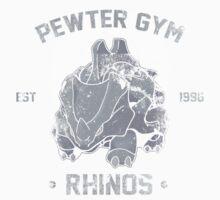 Pewter Gym Rhinos One Piece - Long Sleeve