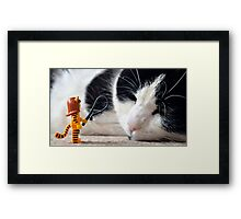 Cat-Woman Framed Print