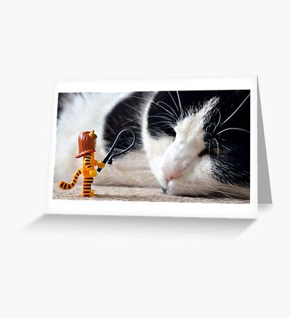 Cat-Woman Greeting Card