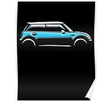 MINI, CAR, BLUE, BMW, BRITISH ICON, MOTORCAR Poster