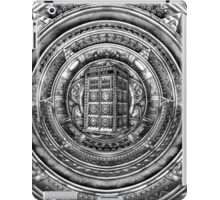 Aztec Time Lord Black and white Pencils sketch Art iPad Case/Skin