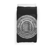 Aztec Time Lord Black and white Pencils sketch Art Duvet Cover