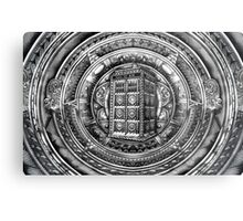 Aztec Time Lord Black and white Pencils sketch Art Metal Print