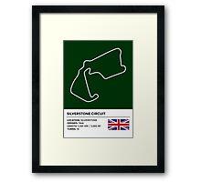 Silverstone Circuit - v2 Framed Print