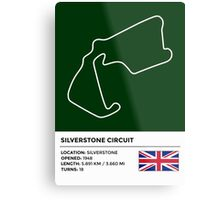 Silverstone Circuit - v2 Metal Print