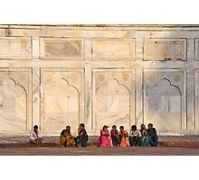 Visiting the Taj Mahal Photographic Print